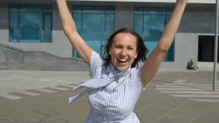Exited successful business woman