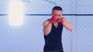 fighter practicing shadow fight
