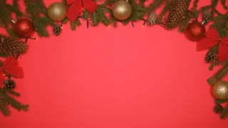 Luminous garlands sparkling on Christmas background