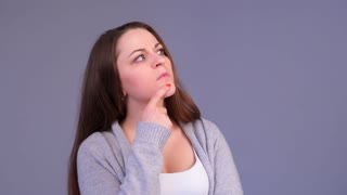 woman thinking about something and then going away
