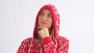 Woman thinking having idea