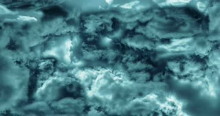 Animation of flying through stormy clouds. Motion graphics