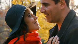 Beautiful romantic male and female dating and spending quality time together