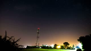 Night time timelapse with a sky full of stars. Night sky timelapse