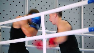 Opponents are boxing in the corner