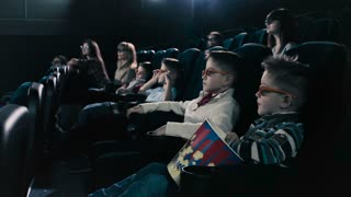 People are afraid from film in the cinema