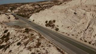 Amazing landscape of road between rocks