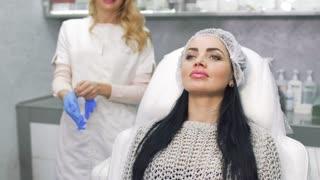 Beautician prepares to procedure