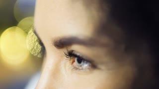 Beautiful female green eyes