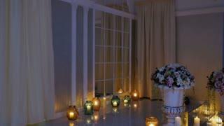 Beautiful interior of wedding hall