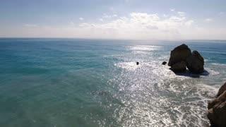 Beautiful landscape with blue ocean