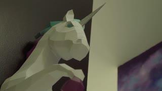 Beautiful sculpture of a unicorn