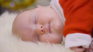 Beautiful sleeping newborn baby girl