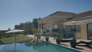 Beautiful view with swimming pool and villa