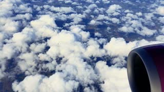 Beautiful white clouds from airplane