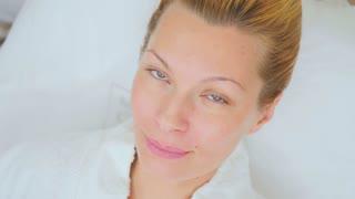 Beautiful woman in beauty clinic