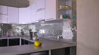 Bright interior of a modern kitchen