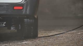 Car washing in slowmotion