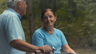 Eldery people talks in park