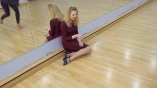 Girlfriend calms their crying friend