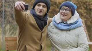 Grandson takes selfie with grandma