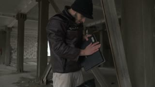 Homeless found laptop in garbage bag