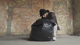 Homeless man found phone in the garbage bag