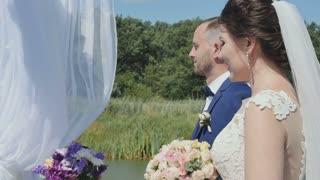 In love couple on wedding ceremony