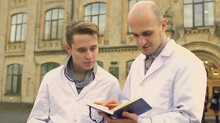 Medical students at university background