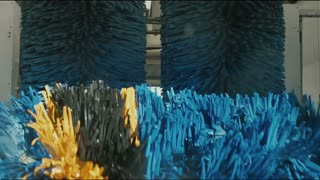 Moving brushes in a car wash