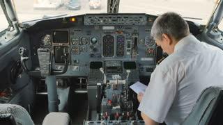 Pilot inside the cockpit