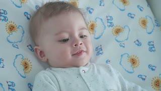 Portrait of adorable smiling little boy