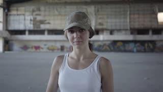 HD & 4K Strong Woman Looking At Camera Storyblocks Videos