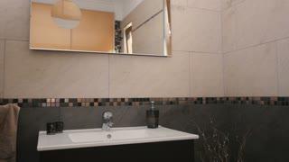 Stylish design of beautiful bathroom