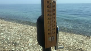 Temperature of the air at the beach
