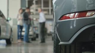 The backward headlight of modern car