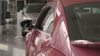 The headlight of modern car