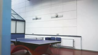 The interior of big room with table for ping-pong