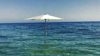 Umbrella in the sea