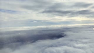 View on clouds from airplane