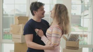 Woman bites a husband tongue