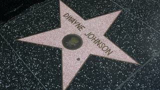 """Dwayne """"The Rock"""" Johnson star on the Hollywood Walk of Fame"""