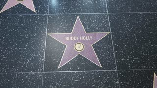 Hollywood Walk of Fame Star - 2 Shots! - Buddy Holly - Editorial Clip