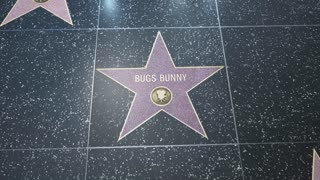 Hollywood Walk of Fame Star - 2 Shots! - Bugs Bunny - Editorial Clip