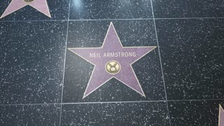 Hollywood Walk of Fame Star - 2 Shots! - Neil Armstrong - Editorial Clip
