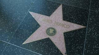 James Franco star on Hollywood Walk of Fame