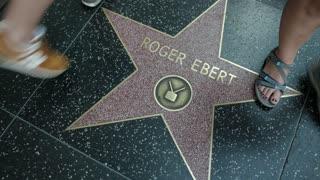 Roger Ebert star on the Hollywood Walk of Fame