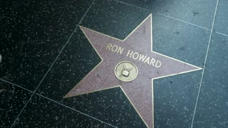 Ron Howard star on the Hollywood Walk of Fame