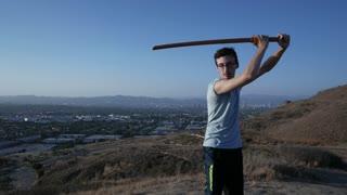 The art of Kendo with a Bokken sword.