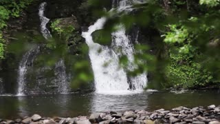 Beauty shot of natural waterfall  1080p HD with natural sound  Stock Video  Footage - Storyblocks Video